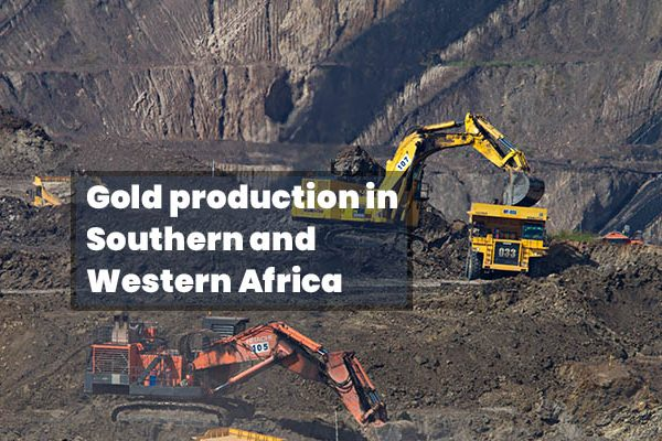 Gold production Southern and Western Africa